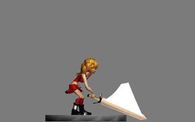 Leah Swings a Sword