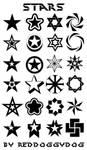 167 Star Brushes