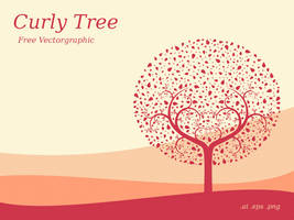 Freebie - Curly Tree Vectorgraphic by ninahagn