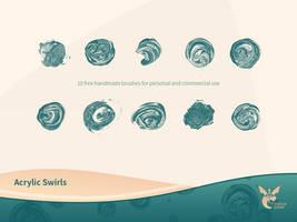 Free Acrylic Swirls Brushset by ninahagn
