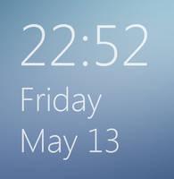 Windows 8 build 7955 Clock