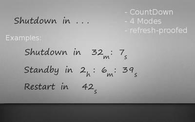 Shutdown In ...  v1.1 by AlCaAz