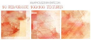 10 Red-orange Icon Textures by Xaliaphous