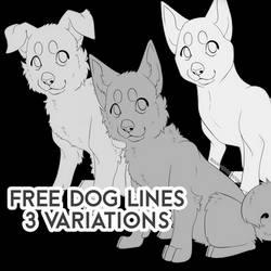 Free Cute Dog Lines