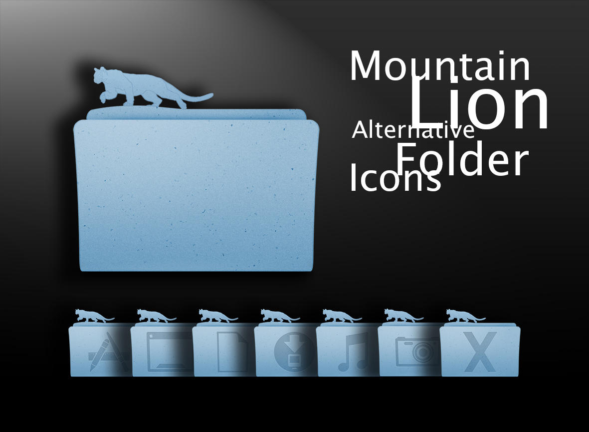 Mountain Lion Alternative Folder Icons by erosle