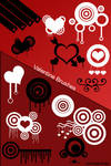 Vector Hearts Brushes for Ps7