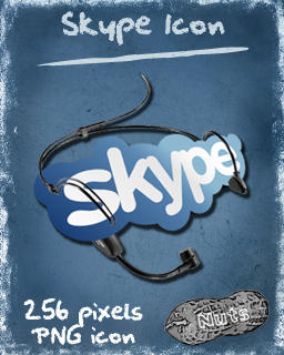 New Skype dock icon by nuteduard