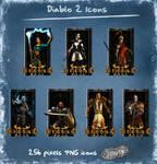 Diablo 2 characters dock icons