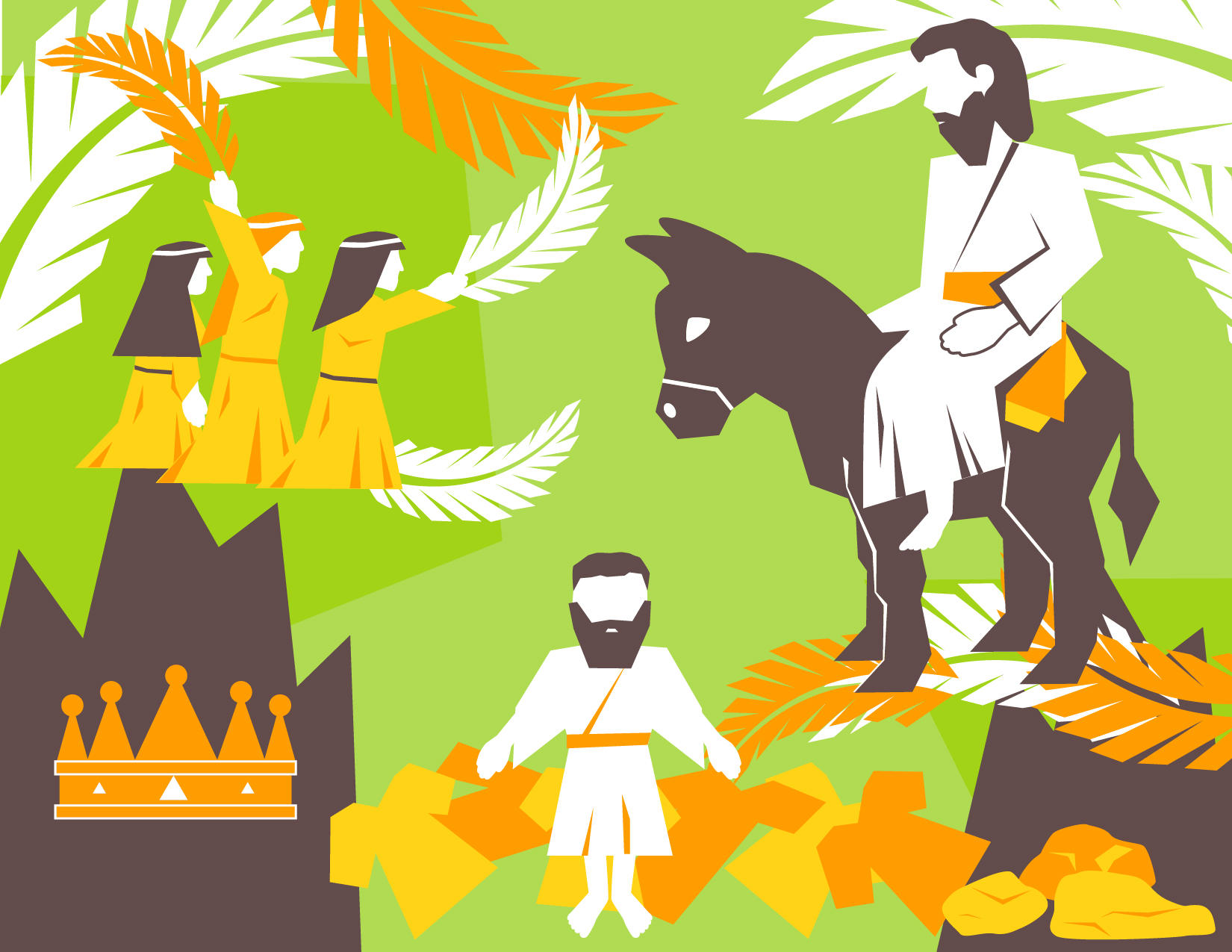 Palm Sunday Vector Pack by Emberblue