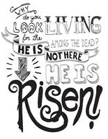 He is Risen - hand lettering