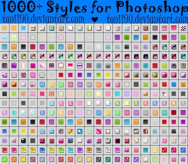 Style para photoshop deviantart patterns