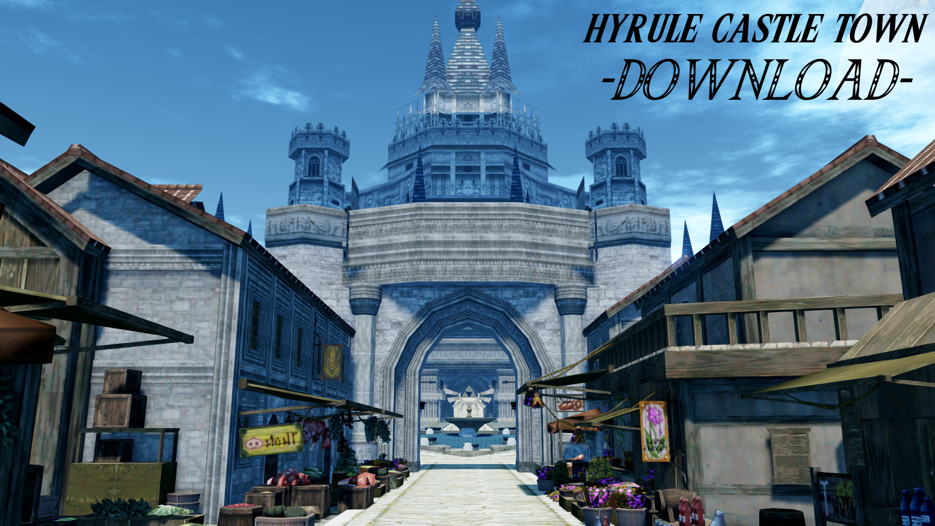Hyrule Castle Town Mmd Dl By Julehyrule On Deviantart