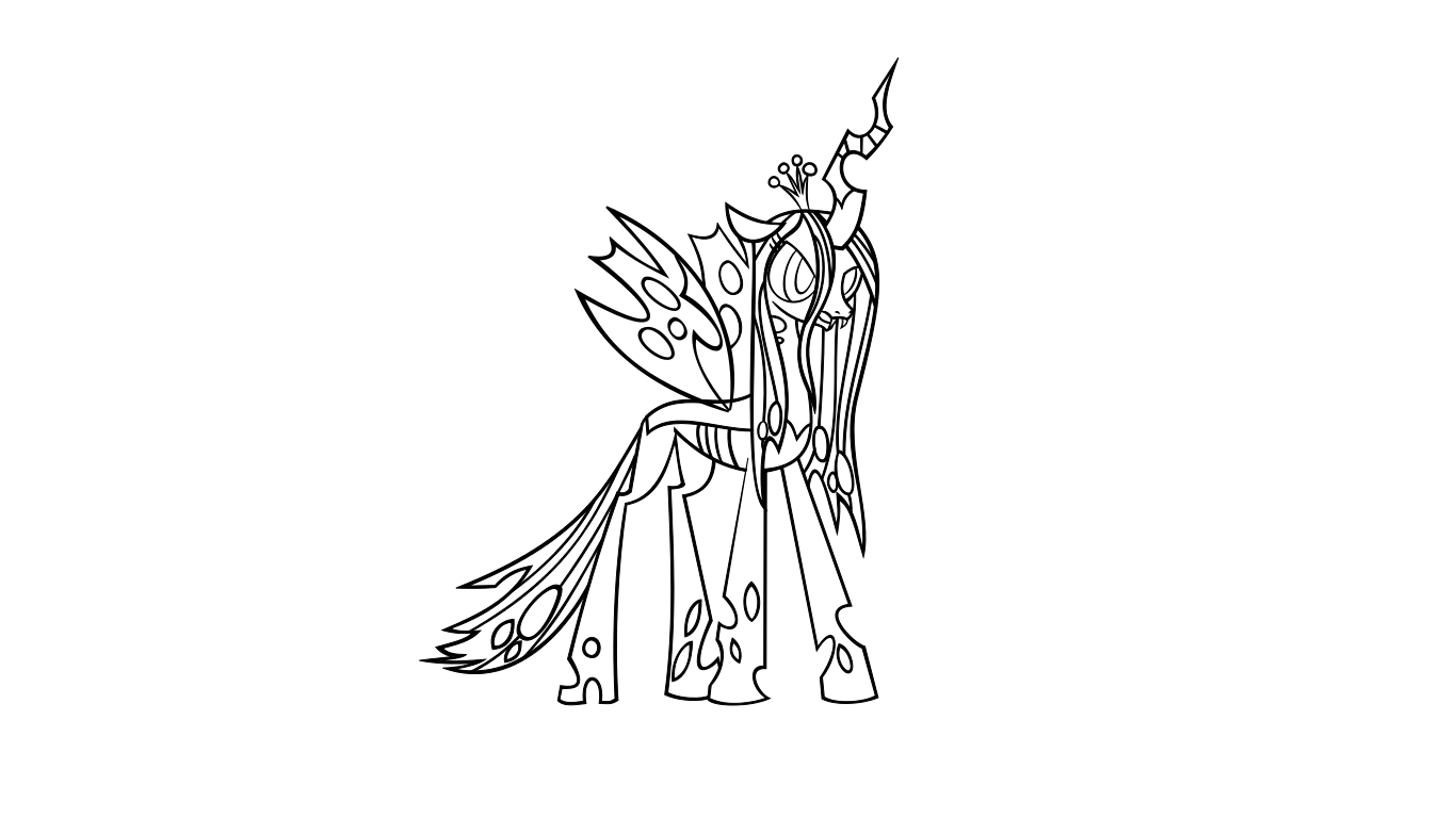 M mlp chrysalis coloring pages coloring pages for Queen chrysalis coloring pages