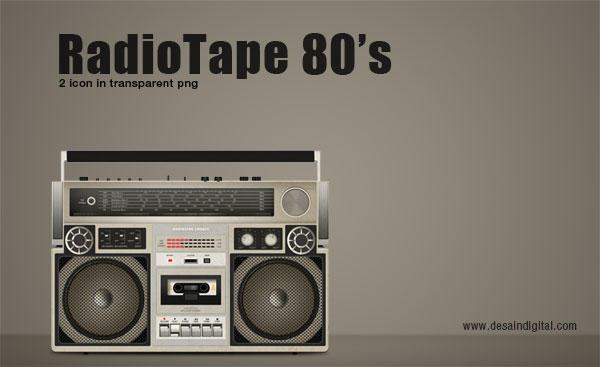RadioTape 80 Icon by jeprie
