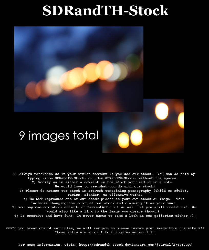 Blue Bokeh 01 Pack by SDRandTH-Stock