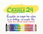 Artrage Colors: Crayola 24