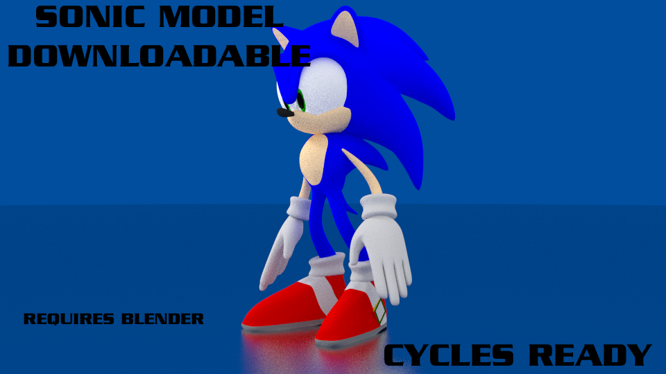 Sonic 3D model - Download by Adreos on DeviantArt