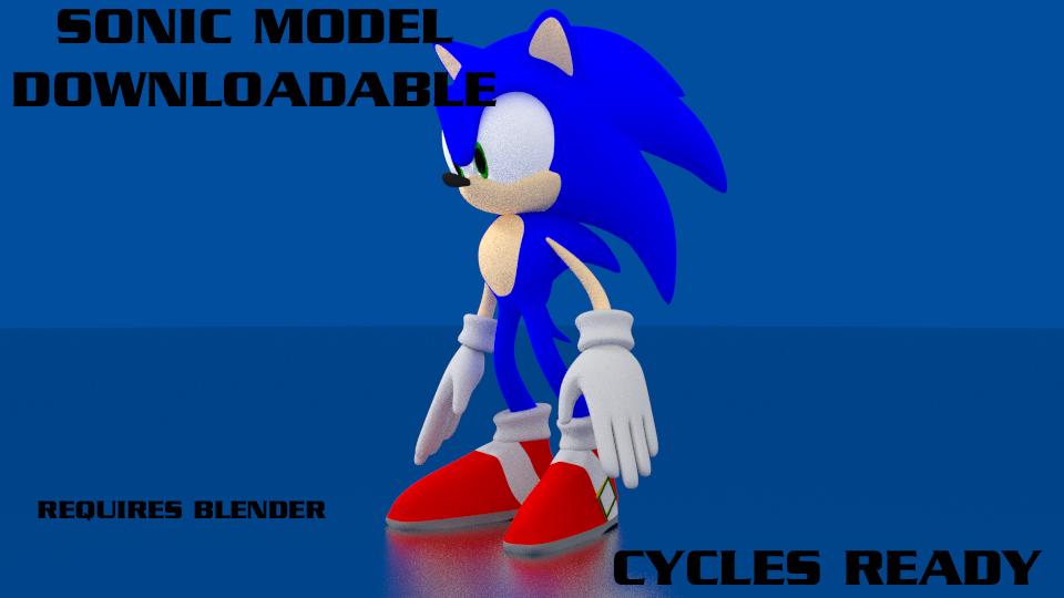 Sonic 3d model download by adreos on deviantart for Deviantart 3d models