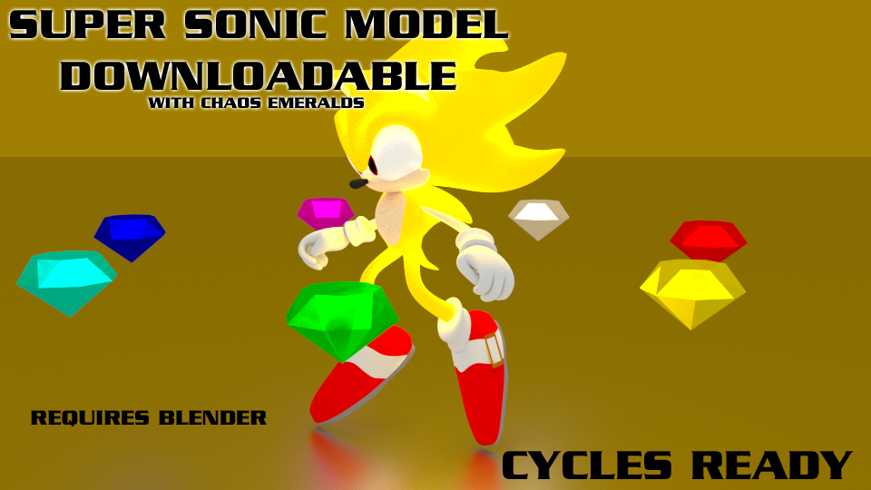 Super Sonic 3D Model - Download