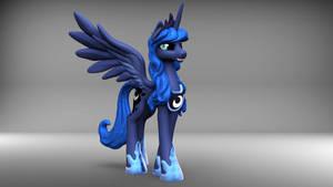 Princess Luna 3D-model turntable video