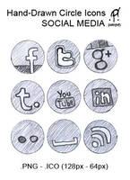 hand-drawn Social Media Icons by patojv