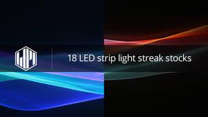18 LED strip light streak stocks