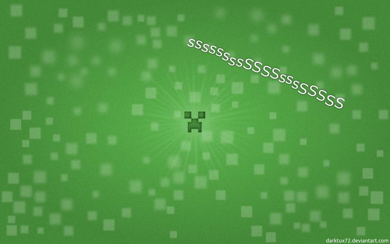 Minecraft creeper wallpaper by darktux72 ...
