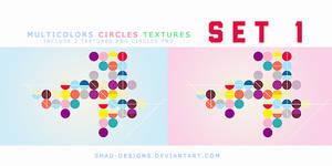 Multicolor circles textures SET 1