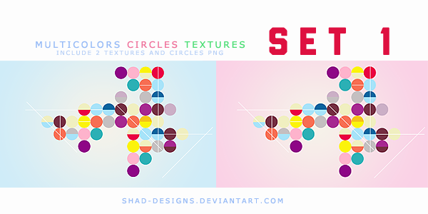 Multicolor circles textures SET 1 by shad-designs