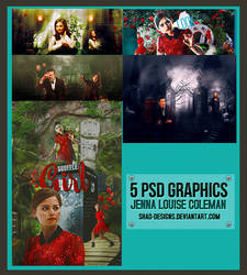 5 PSD Graphics Jenna Louise Coleman by shad-designs