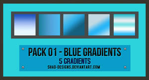 Pack 01 - Blue Gradients by shad-designs