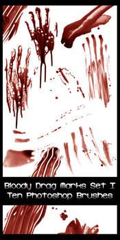 Bloody Drag Mark Brushes Set I