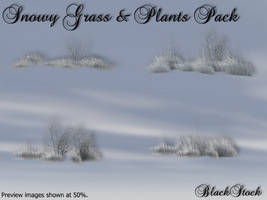 Snowy Grass and Plants Pack