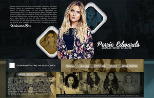 Perrie Edwards Psd Header by DanToDesign