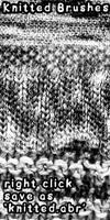 Knit brushes