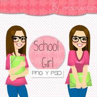 School Girl by merescorpioeditions