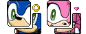 FREE Sonic and Amy Avatars by MintyStitch