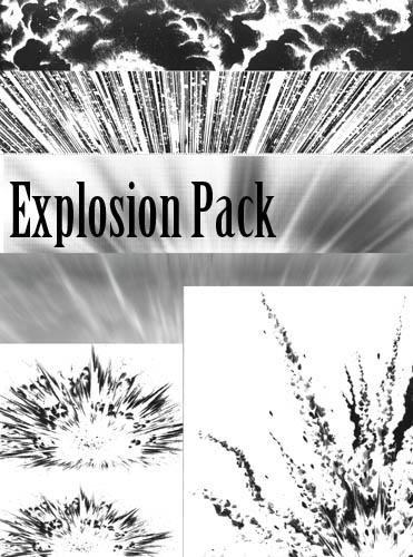 Screentones - Explosion Pack by AmethystArmor