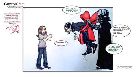 Captured: Birthday-Snape by JuanaSunfall