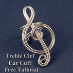 Treble Clef Ear Cuff Tutorial- Free