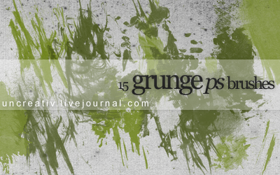 15 grunge ps brushes by Sarytah