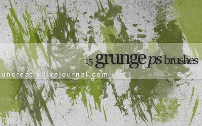 15 grunge ps brushes