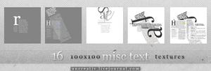 16 misc text 100x100 textures