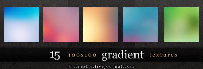 15 gradient 100x100 textures by Sarytah