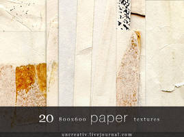 20 paper textures 800x600 by Sarytah