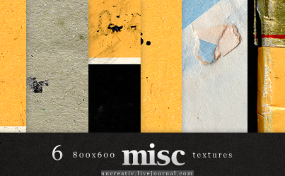 6 misc textures - 800x600 by Sarytah