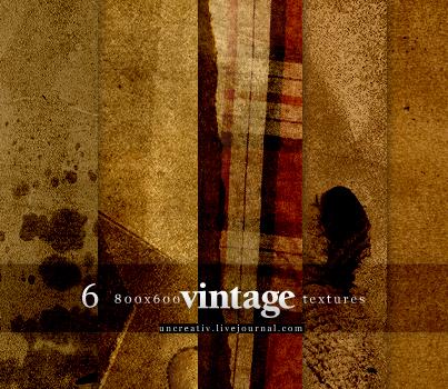 6 vintage textures by Sarytah
