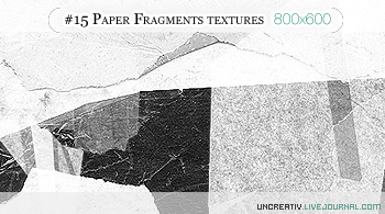 15 paper fragements txtures by Sarytah