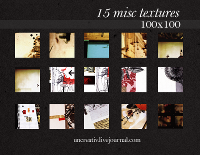 15 misc 100x100 textures by Sarytah