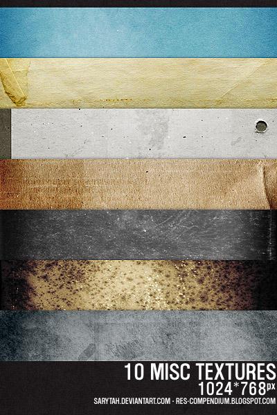 10 misc textures by Sarytah